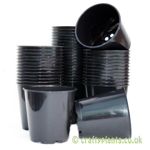 6cm plastic plant pots by craftyplants