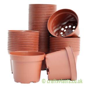 9cm plastic plant pots by craftyplants